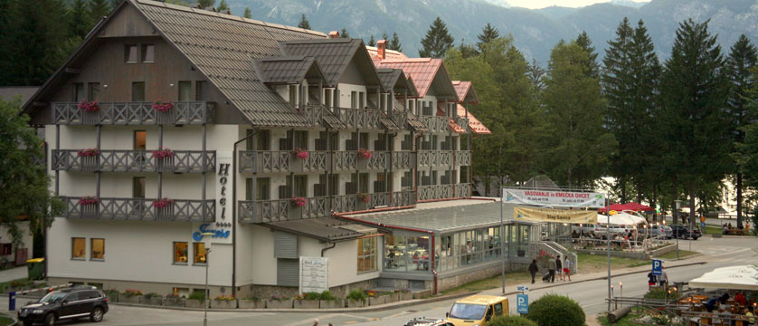Hotel Jezero, Lake Bohinj, Slovenia.jpg